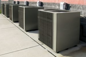 residential hvac system on savannah building