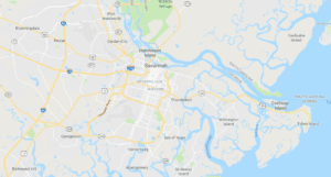 map of savannah and pooler for air conditioner and refrigeration service