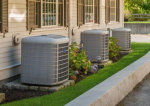 a row of hvac systems in montgomery ga