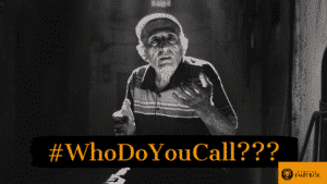 A man questioning who he should call