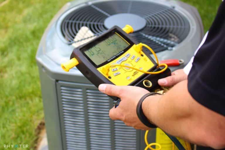 Checking AC Refrigerant Pressure